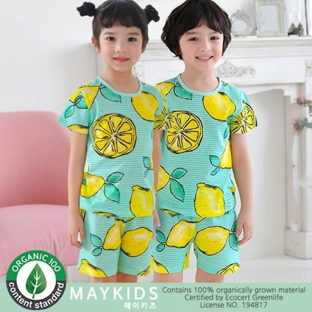 半袖レモンのルームウェア / 韓国子供服