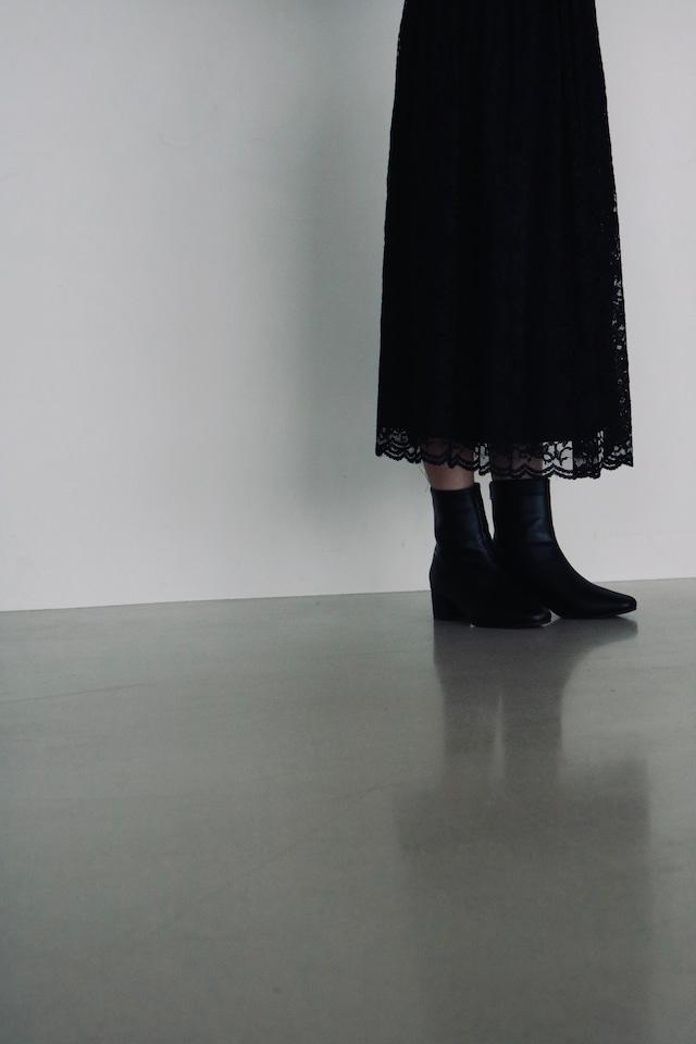 Vintage black lace skirt