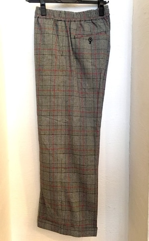Glen Check Baggy Trousers Ivory