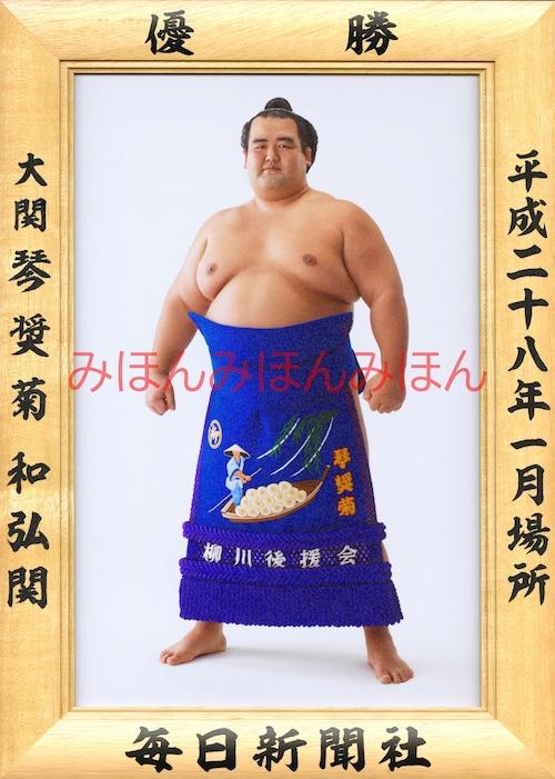 平成28(2016)年1月場所優勝 大関 琴奨菊和弘関