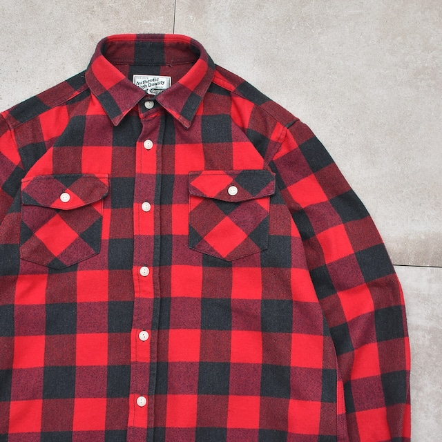 OUTDOOR product block check work shirt