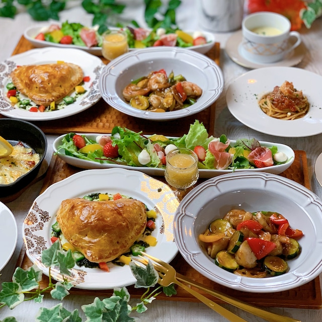 フォンダンミートパイや魚介のバルサミコソテーなど全6品 献立まとめ