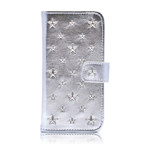 ENLA BY ENCHANTED.LA NOTEBOOKTYPE STAR STUDDED iPhone CASE SHINEE Y SILVER
