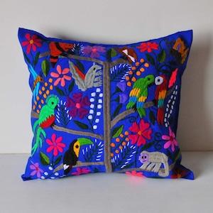メキシコ シナカンタン刺繍クッションカバー(H)