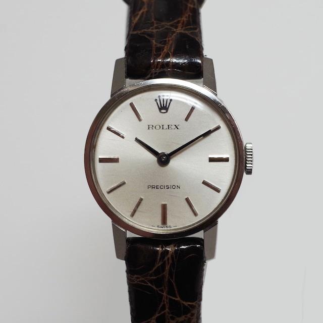 ROLEX ロレックス 4119910 プレシジョン SS 革 手巻き 腕時計 レディース