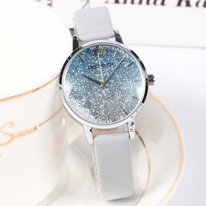 大活躍 シンプル 星空 合わせやすい レザーベルト レディース 腕時計 <ins-2056>