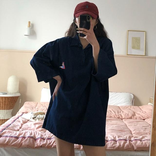 【トップス】無地カジュアルシンプルシャツ43009235