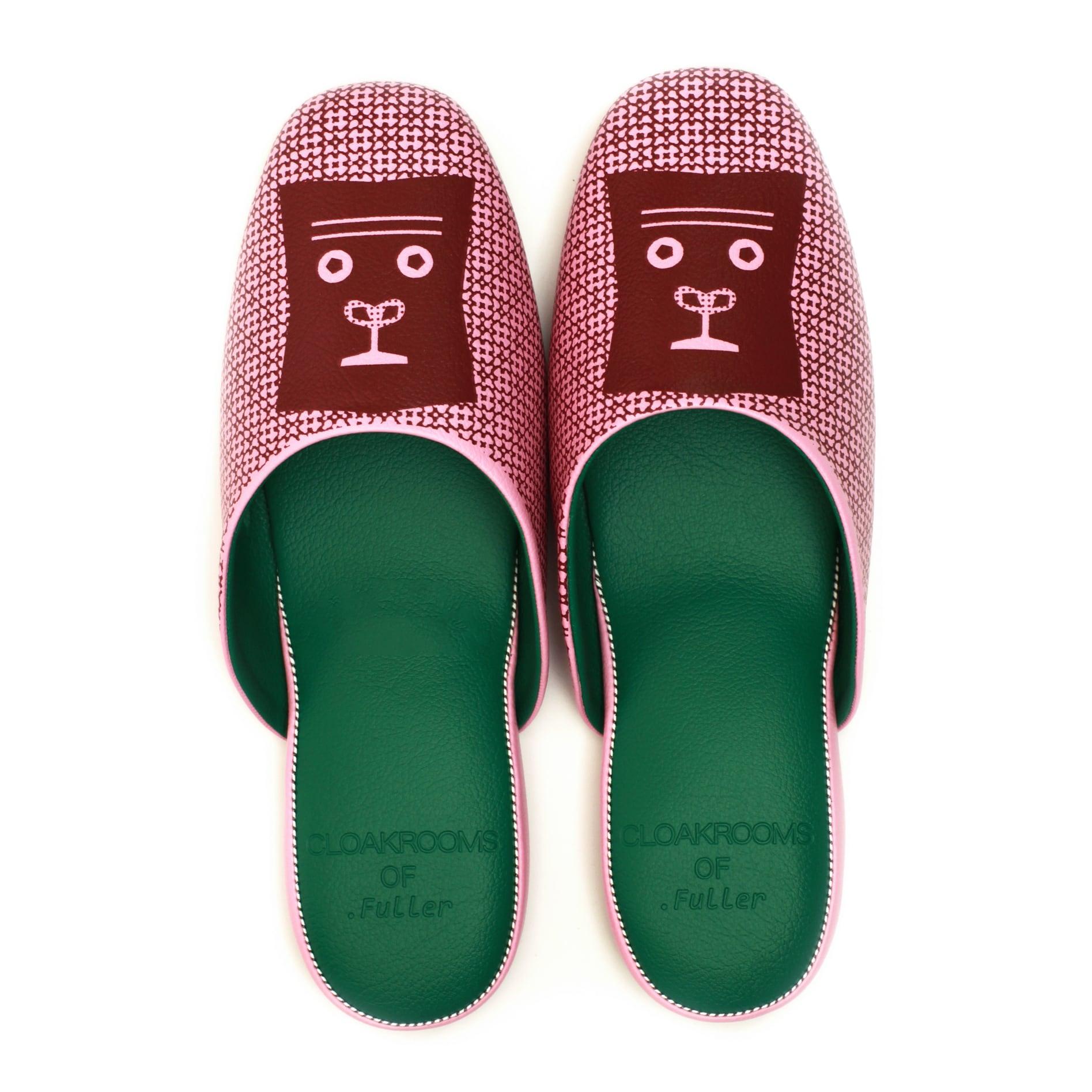 CLOAKROOMS of .Fuller  PANTOUFLE クロークルームス スリッパ 【tupera tupera×ふたごのゴリラ】 ピンク×グリーン