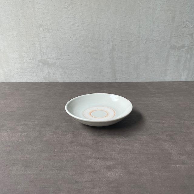 清水善行   白磁  小皿