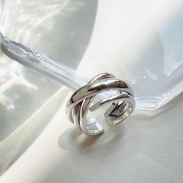 ◆即納◆【12-16号相当対応】シルバー925 4連 リング 指輪 Silver925 AR-S-4