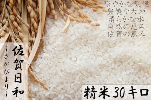 D577 【H30収穫米】みやき町産『さがびより(精米30kg)』8年連続特A受賞