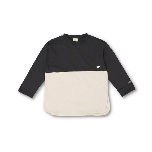 RIO ラウンドヘムバイカラーTシャツ