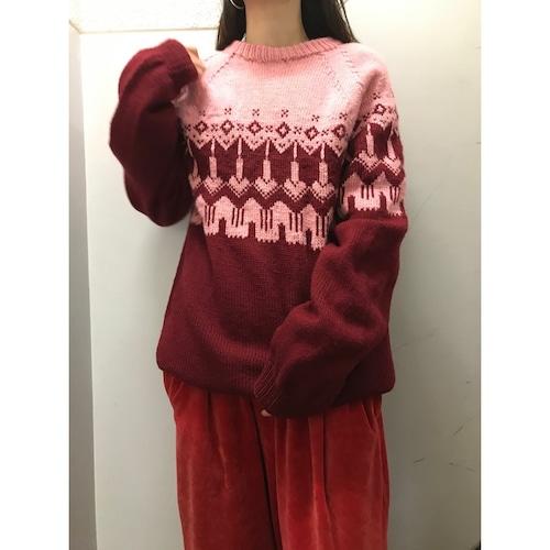90's ノルディックセーター