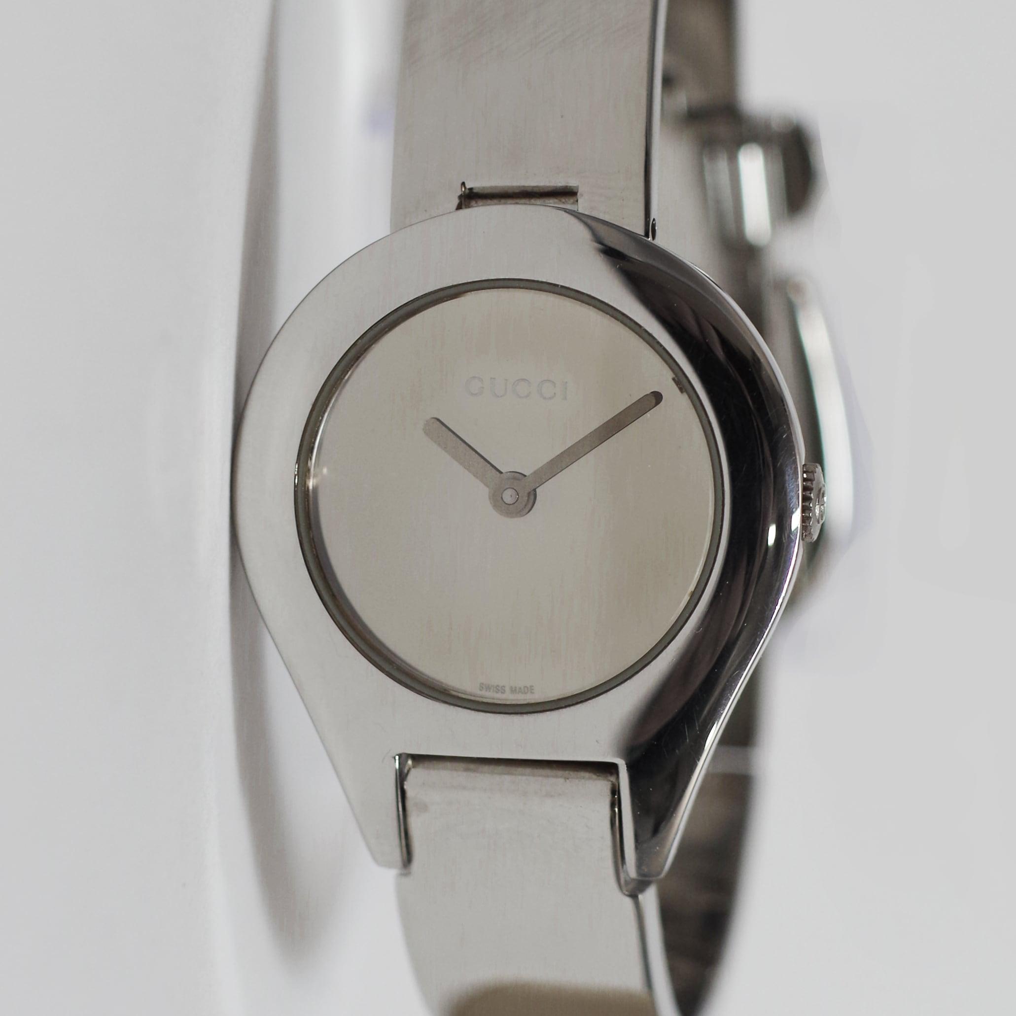 GUCCI グッチ6700L SS クオーツ ミラー文字盤 腕時計 レディース