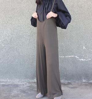 Jersey rib apron pants