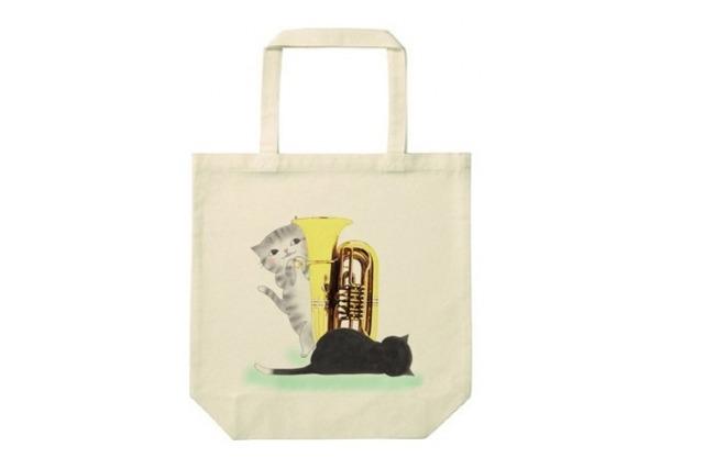 チューバ猫のトートバッグ