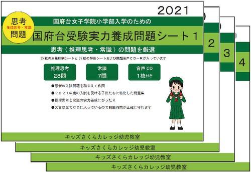 国府台女子学院小学部受験実力養成問題シート 第1~4集セット