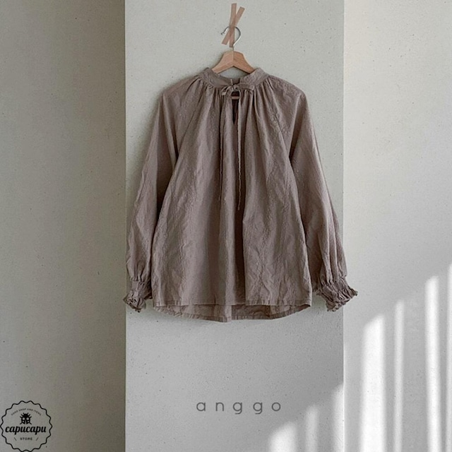«sold out»«mom» embroidery blouse 2colors 刺繍ブラウス ママサイズ