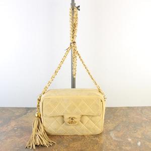 .CHANEL MATELASSE TURN LOCK COCO MARC TUSSEL CHAIN LEATHER MINI SHOULDER BAG MADE IN ITALY/シャネルマトラッセターンロックココマークチェーンレザータッセルミニショルダーバッグ2000000056043