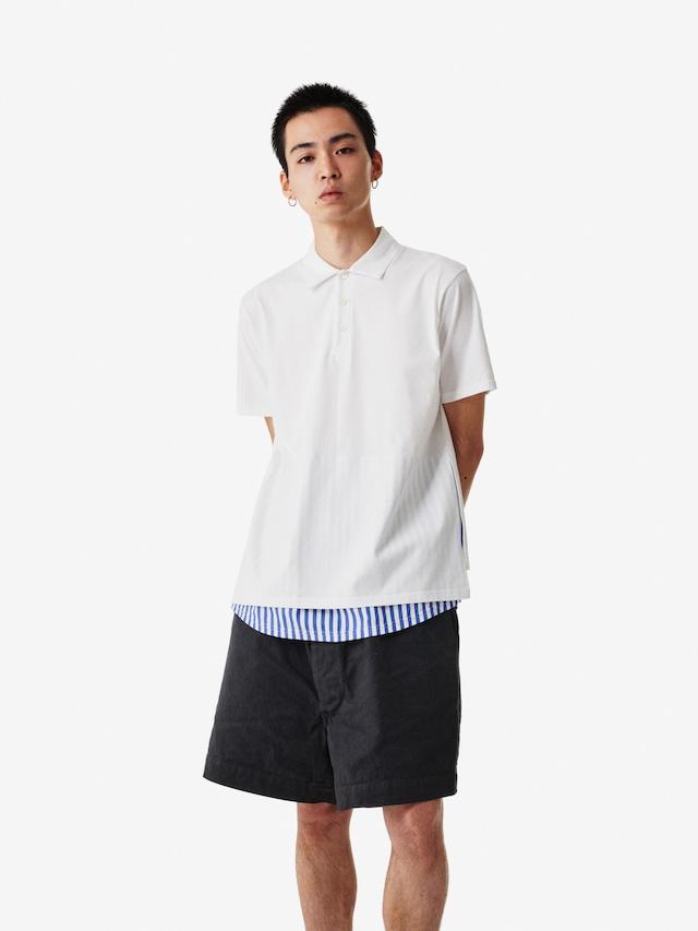 【SPECIAL SALE!】ALOYE / Short Sleeve Layerd Polo Shirt