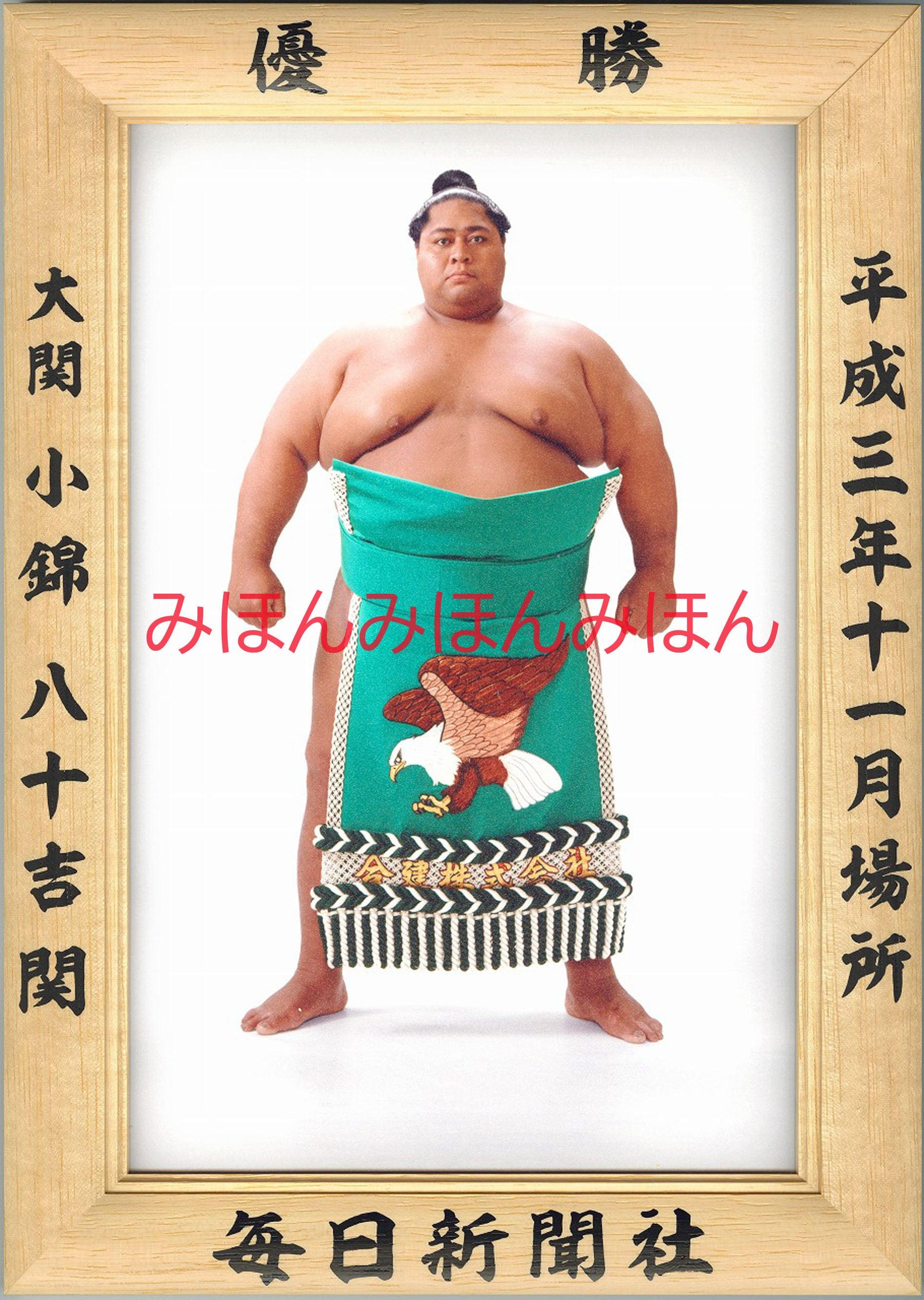 平成3年11月場所優勝 大関 小錦八十吉関(2回目の優勝)