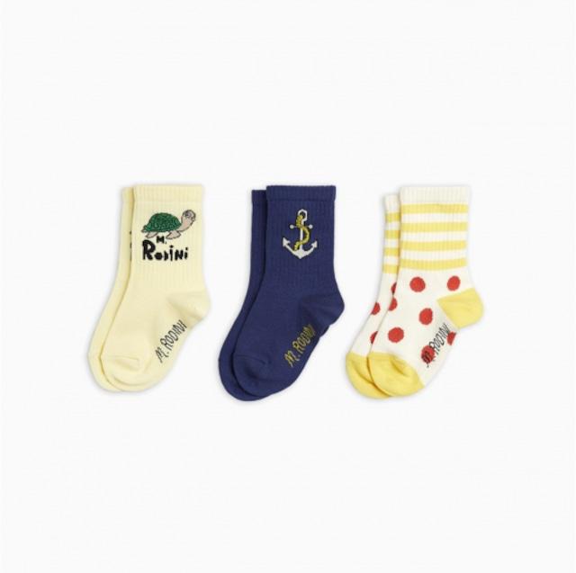 【21AW pre】minirodini( ミニロディーニ )Anchor 3pack  socks  靴下