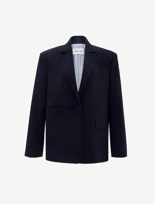 Wide Wool Jacket