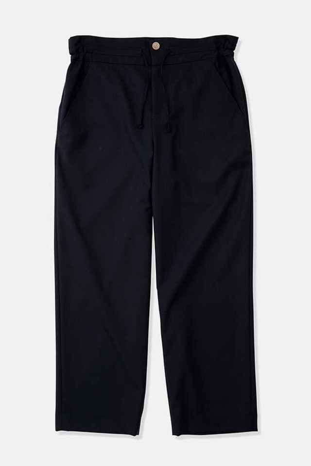 DIGAWEL / Side Gather Trousers (NAVY)