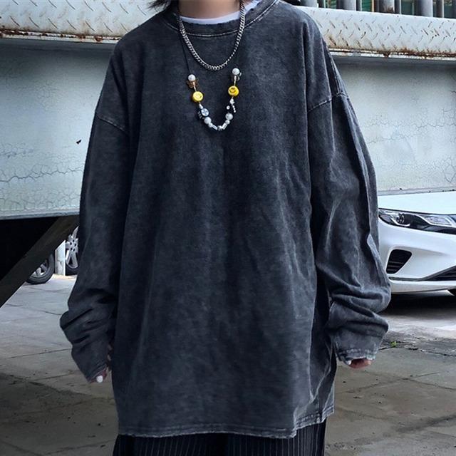 【トップス】ストリート系無地ファッションカジュアル和風Tシャツ42906321