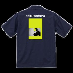 vibeca オープンカラーシャツ navy