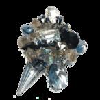 Stardust Brooch (スターダストブローチ)EMU-019-2  ブルーブラック