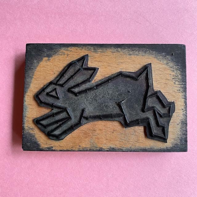 France ヴィンテージ教材ビッグスタンプ・ウサギ / aa0123