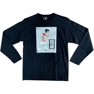 【YBC】Kabuki Rugby Long Sleeve Tee Black