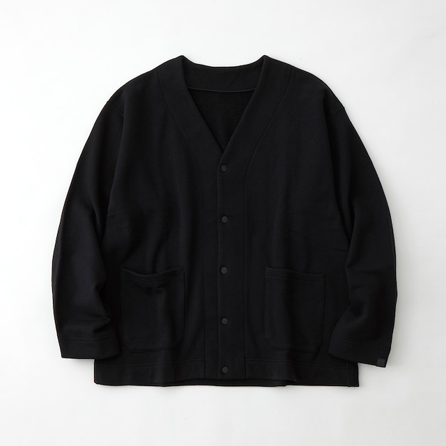 LOOPWHEELER × WM SWEAT CARDIGAN  - BLACK