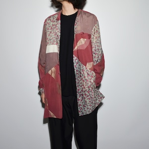 "Crazy Pattern ""NIPPON SILK"" Shirt Coat 〈F〉"