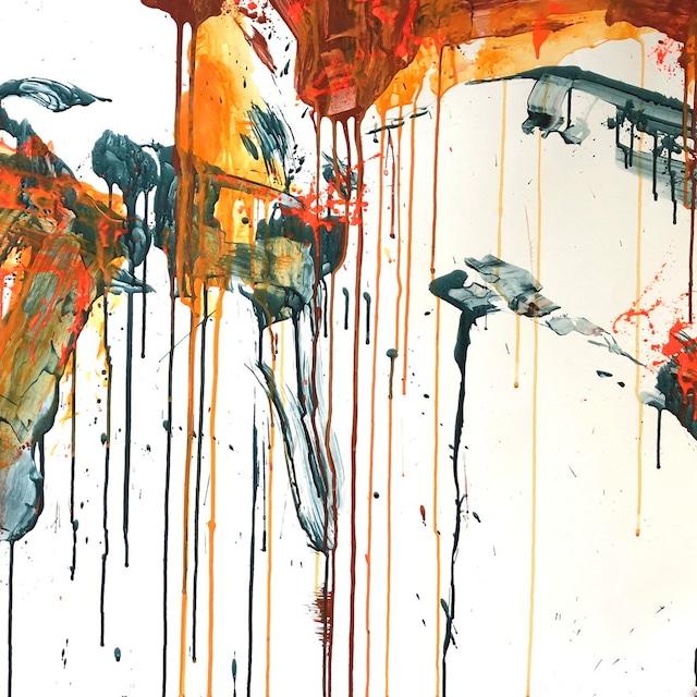 絵画 絵 ピクチャー 縁起画 モダン シェアハウス アートパネル アート art 14cm×14cm 一人暮らし 送料無料 インテリア 雑貨 壁掛け 置物 おしゃれ抽象画 現代アート ロココロ 画家 : tamajapan 作品 : t-31