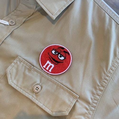 PATCHIES 【ワッペン】 M&M's エムアンドエムズ レッド ワークシャツ
