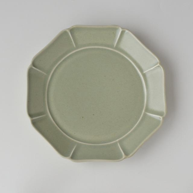 青磁 八方七寸皿