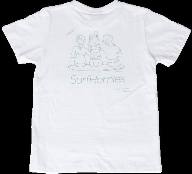 【ハレイワ / HALEIWA HAPPY MARKET】ハレイワTシャツ ビーチガール 白 ハワイアン サーフ好きにも