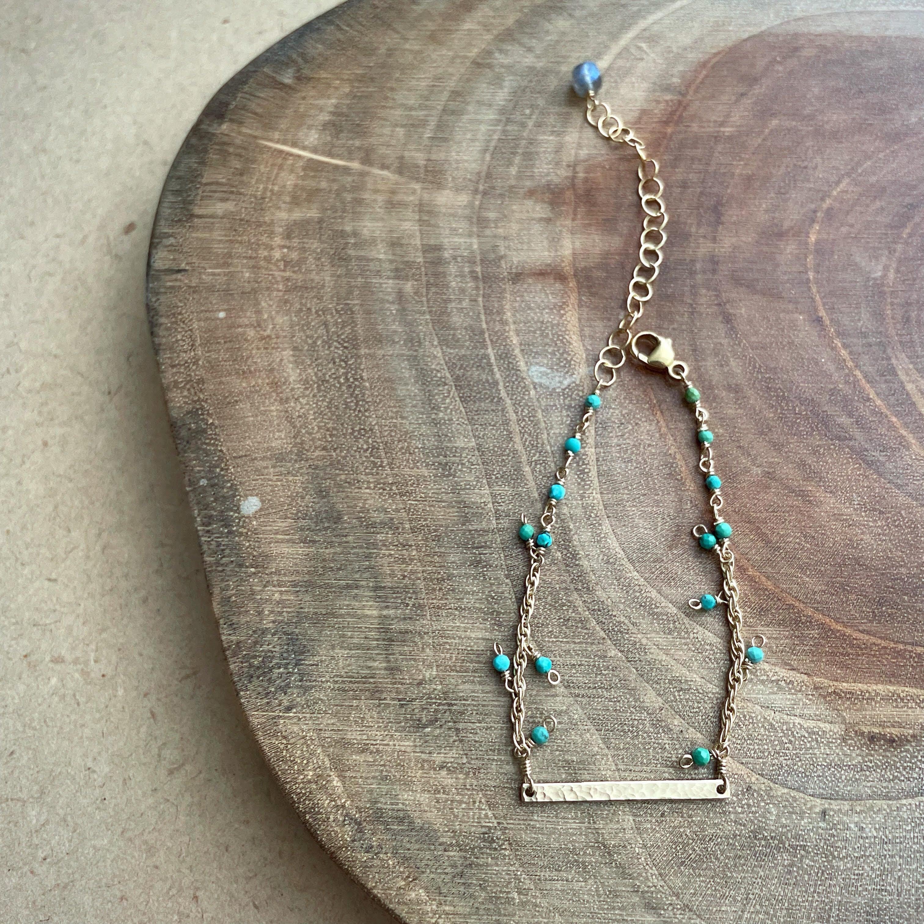 【New】Turquoise×Labradorite*Bracelet/K14 gf