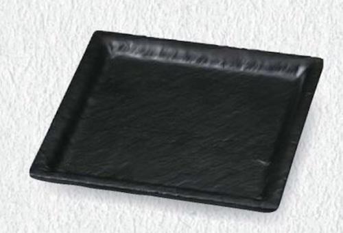 16.9石削り角皿 6-380-2