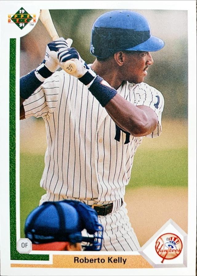 MLBカード 91UPPERDECK Roberto Kelly #372 YANKEES