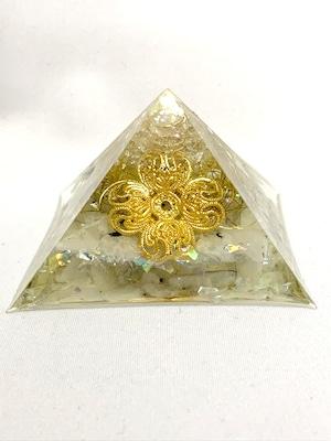ピラミッド型オルゴナイト【ラブラドライト・天然水晶】