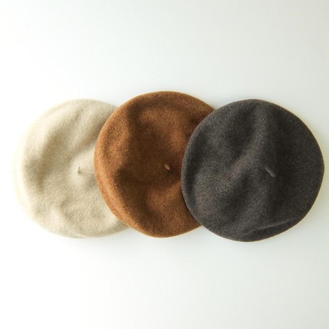 Parc-nique - ウールベレー帽 monoca - Beige / Khaki / Grey