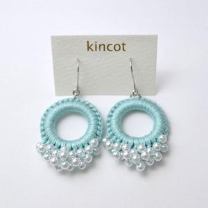 kincot リングパールピアス(ライトブルー)