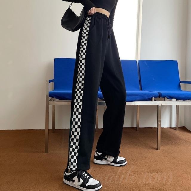 【ボトムス】ファッションハイウエストレギュラー丈カジュアルパンツ52721768