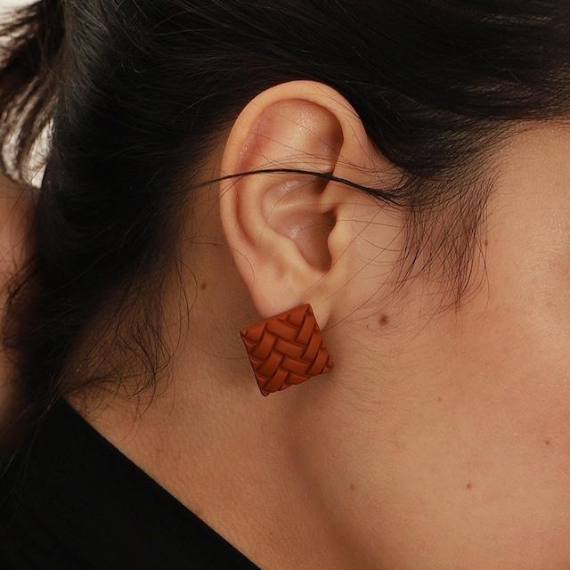 Square knit  design pieces(スクエアニットデザインピアス)b-054
