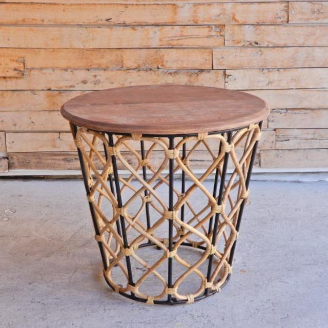ルシア サイドテーブル ブラック/Lサイズ