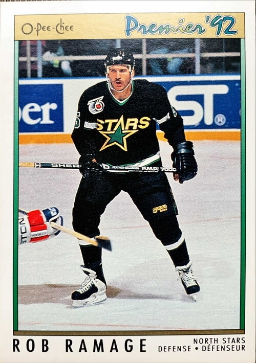 NHLカード 91-92 O-PEE-CHEE ROB RAMAGE #076 NORTH STARS