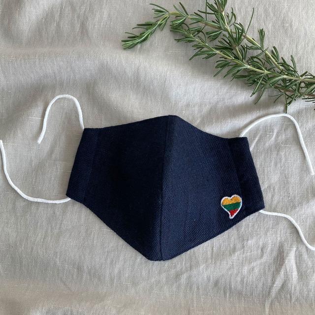リネンコットン ストール 織柄 リトアニア製 大判 洗える イエロー